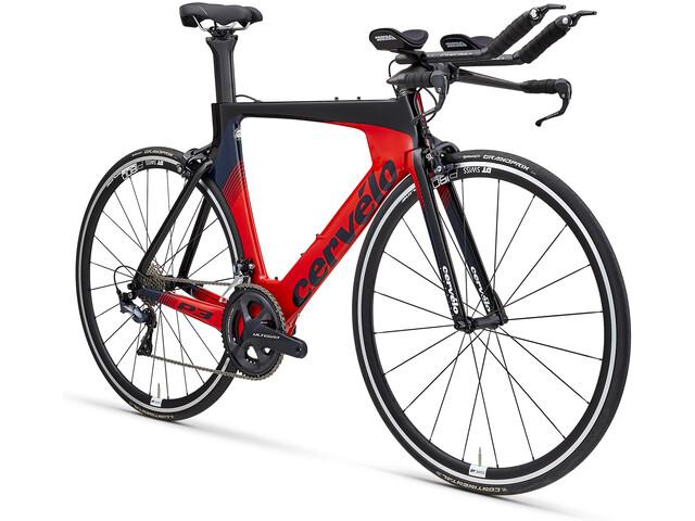 Cervelo P3 Ultegra 8000 Triatloncykel rød/sort (2019) | Tri og enkeltstart